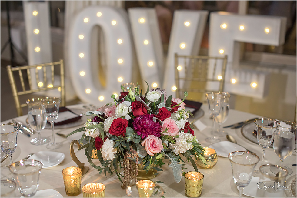 wedding tablescape and signage