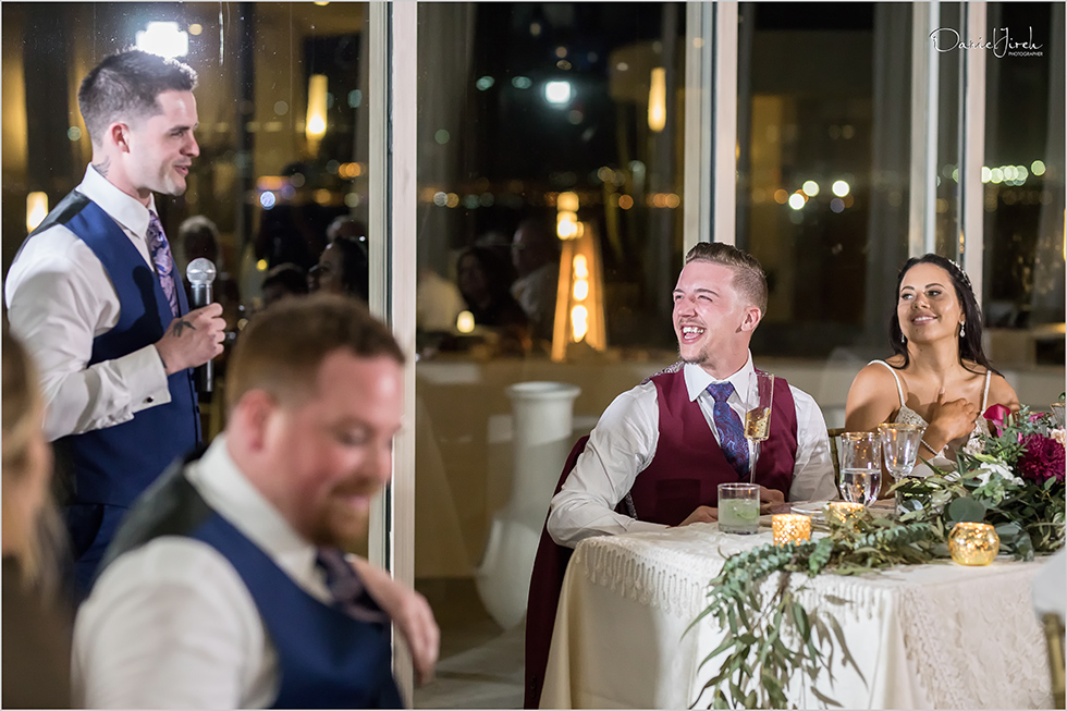best man gives toast