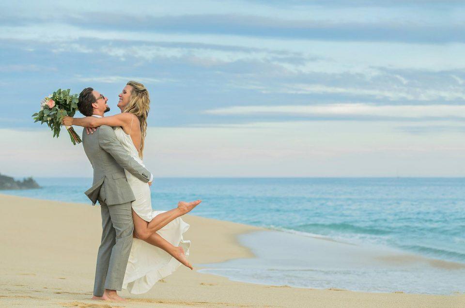 Pueblo bonito Pacifica Elopement Wedding: Jamie & Daryl