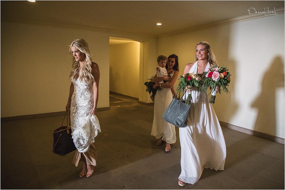 bride and bridesmaids at Los Cabos wedding