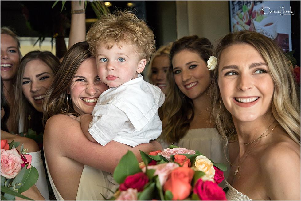 bridal party and ring bearer at Los Cabos wedding