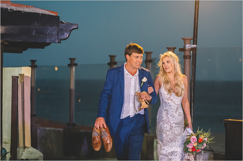 bride and groom at Pueblo Bonito Sunset Beach