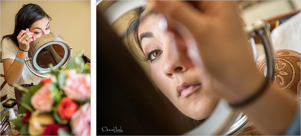 bridesmaid does makeup