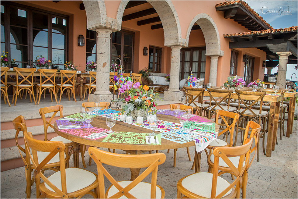 Mexican themed welcome party setup at Villa Vista Ballena by The Main Event Cabo