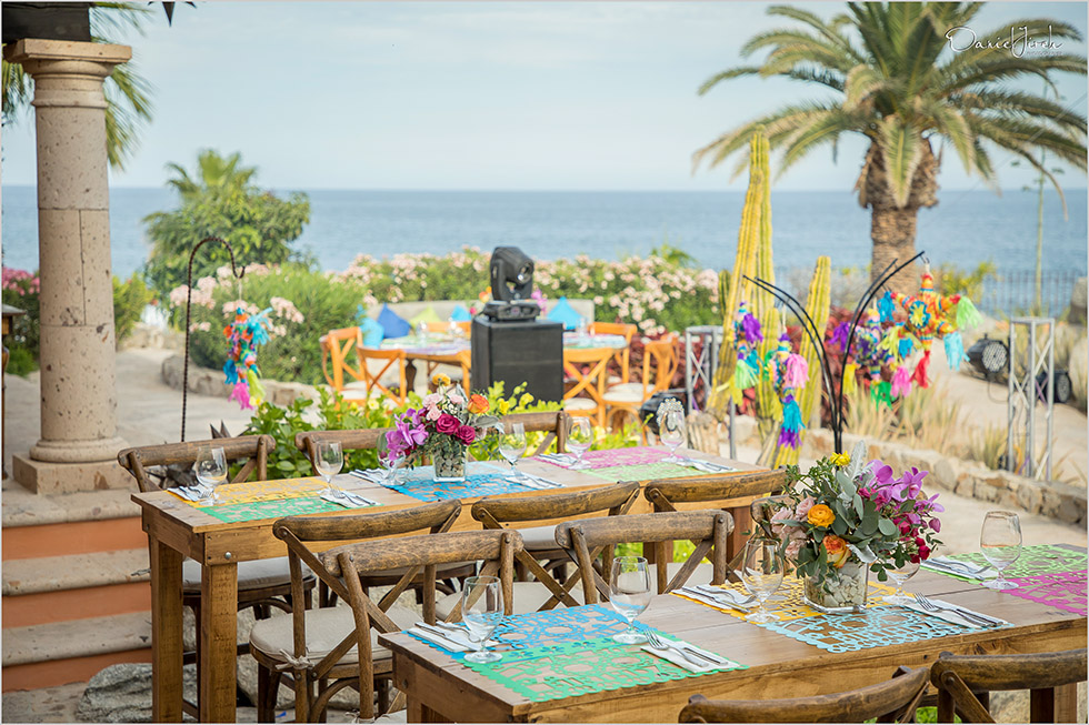 colorful mexican decorations, birthday party, Cabo