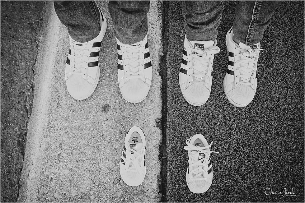 We are family with nice Adidas shoes Little Kid Shoes Mom Dad