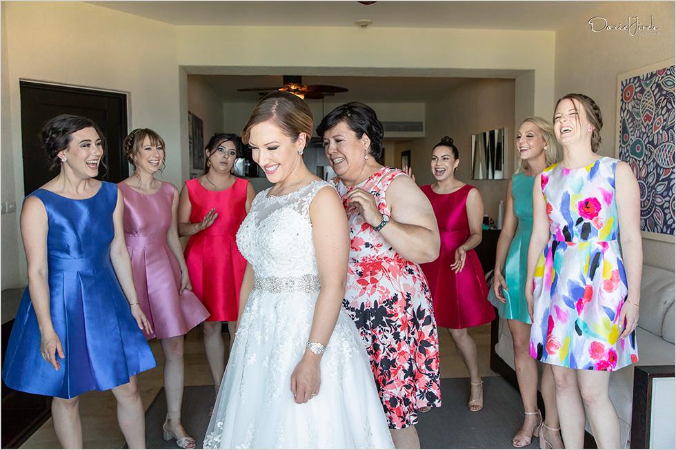 Cabo San Lucas destination wedding, bridesmaids, wedding party, Cabo wedding photography Casa Dorada