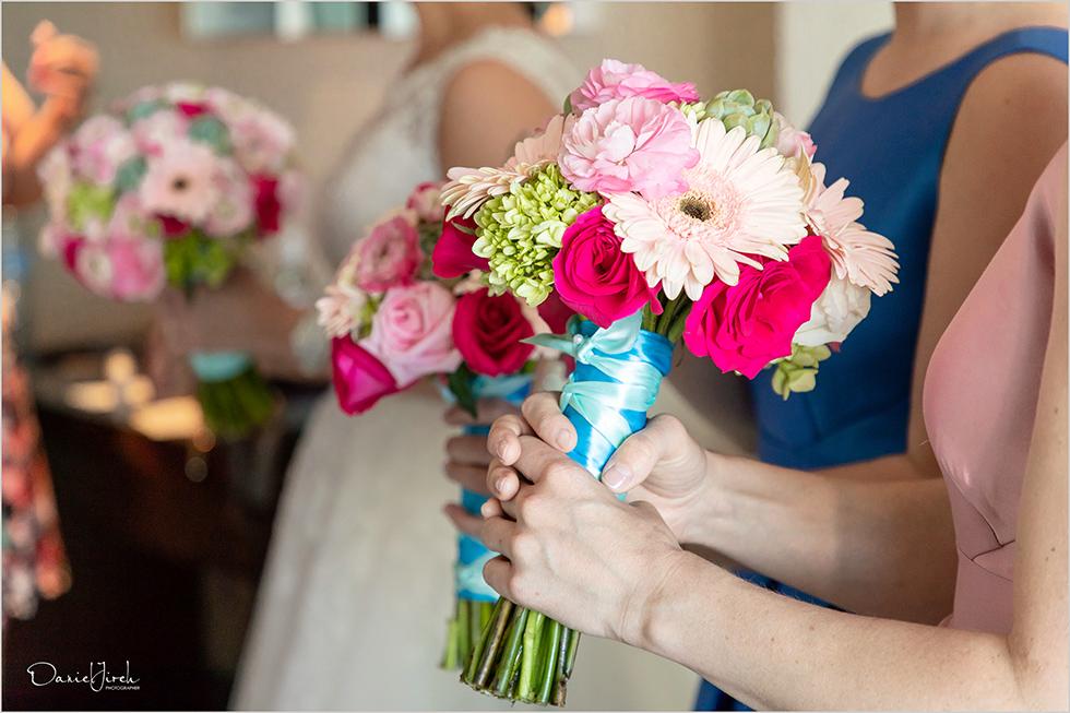 Cabo wedding photography Casa Dorada, bouquets, bridal party