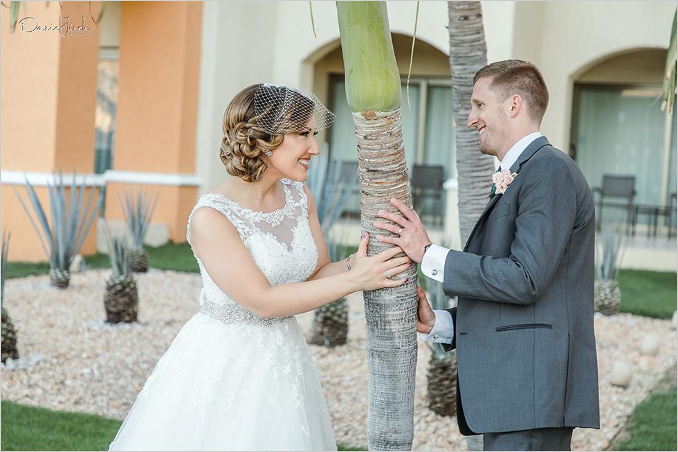 Cabo wedding photography Casa Dorada, destination wedding, bride and groom portrait