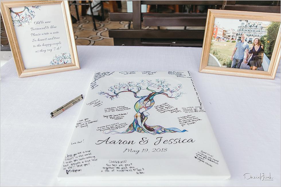 Cabo wedding photography Casa Dorada, destination wedding, guest book, entrance table
