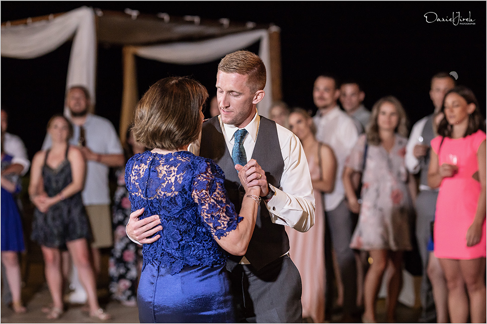 Cabo wedding photography Casa Dorada, destination wedding, mother son dance