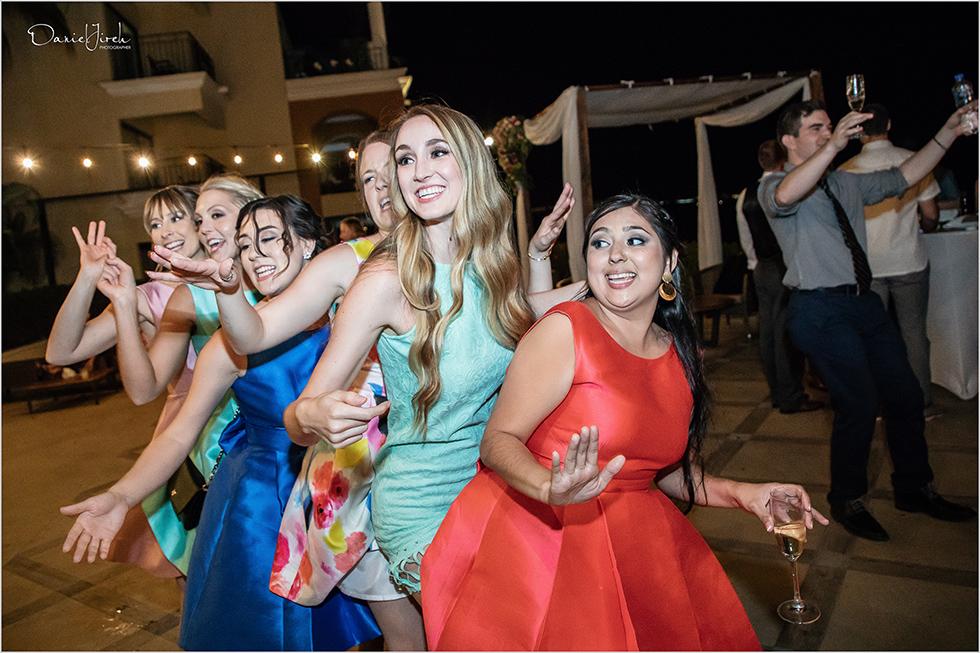 Cabo wedding photography Casa Dorada, destination wedding, wedding reception, bridal party, bridesmaids