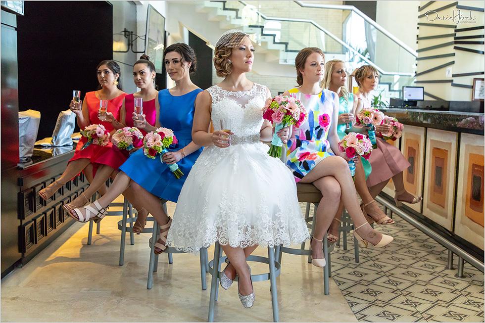 Cabo wedding photography Casa Dorada, destination bride, bridesmaid