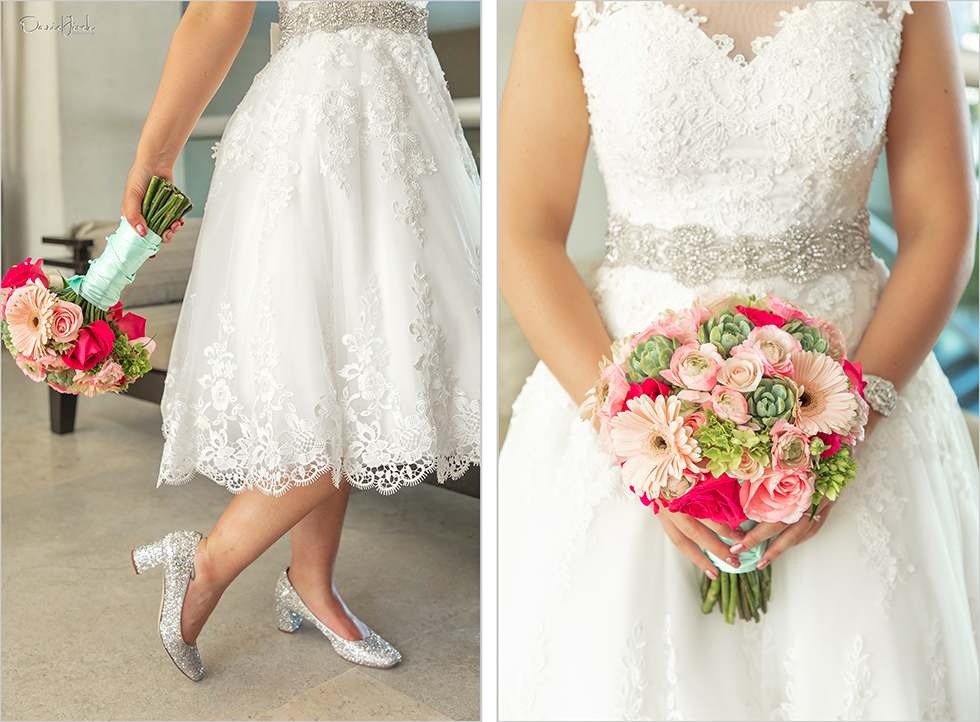 Cabo wedding photography Casa Dorada, destination bride, retro bride, bridal bouquet