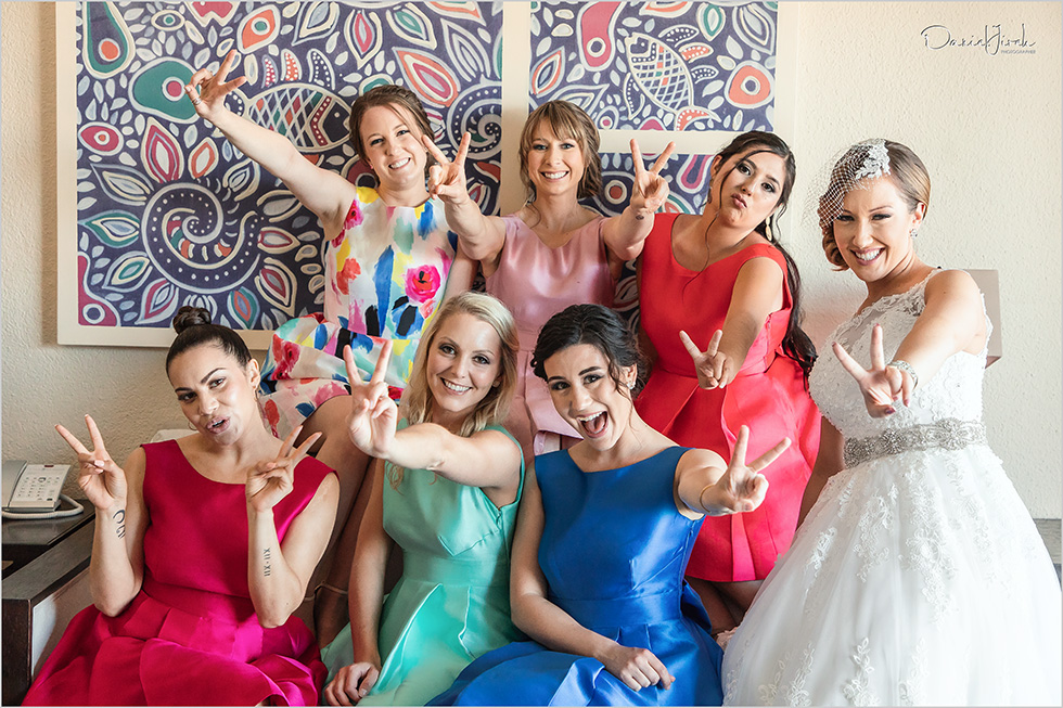 Cabo wedding photography Casa Dorada, destination bride, bridesmaids, bridal party