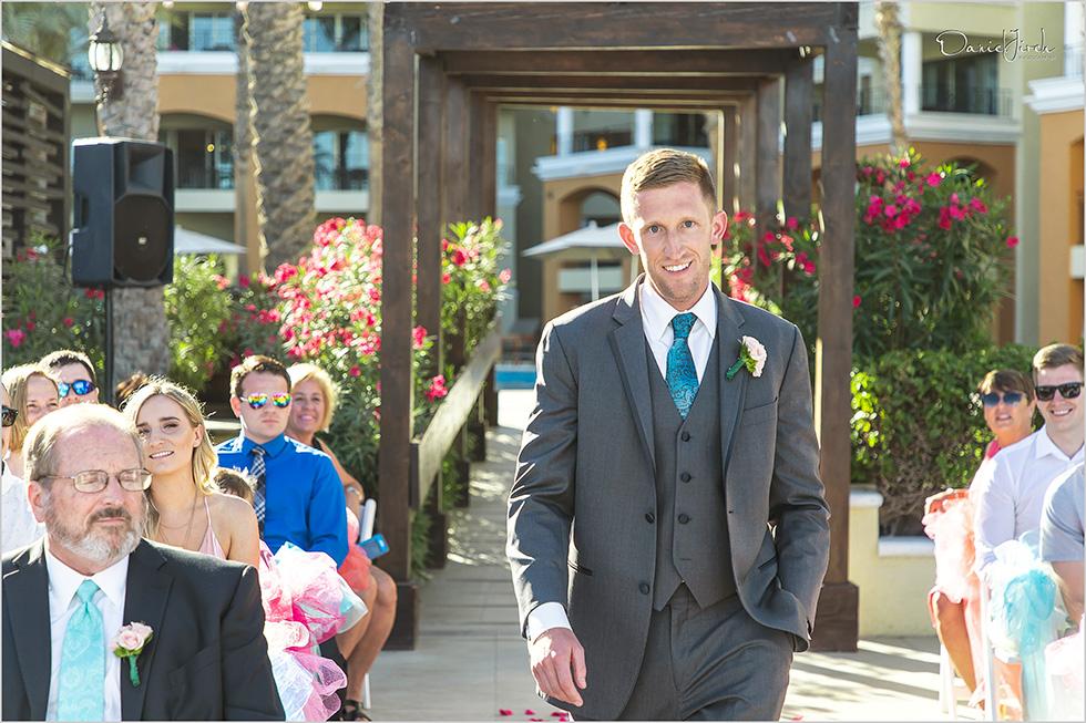 Cabo wedding photography Casa Dorada, destination wedding ceremony, destination groom