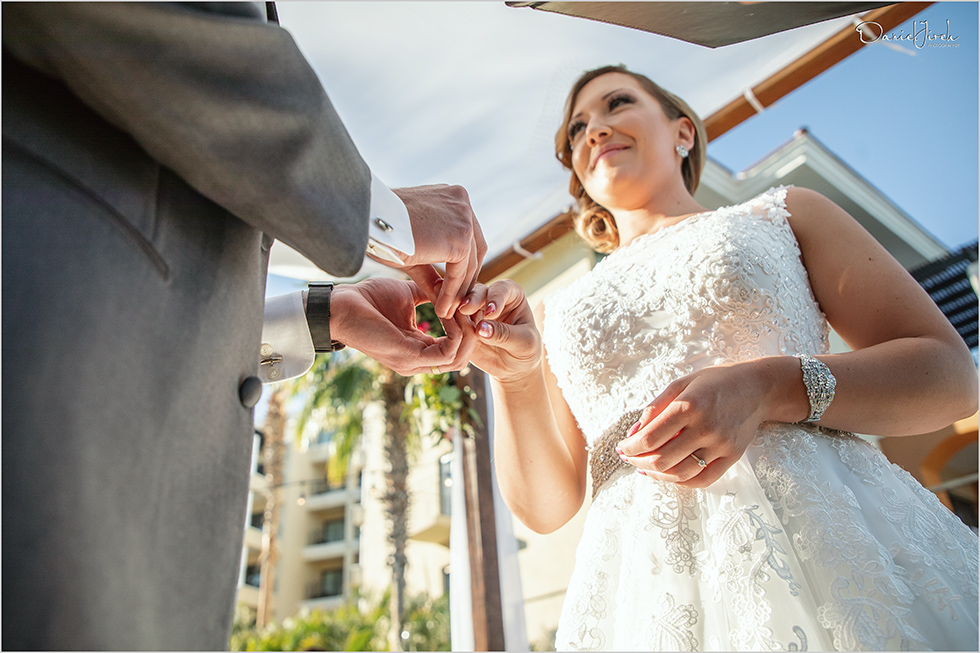 Cabo wedding photography Casa Dorada, destination wedding ceremony, wedding vows, wedding rings