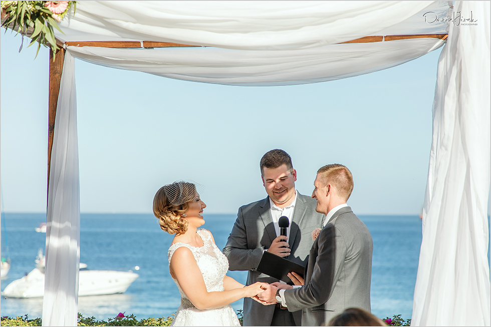 Cabo wedding photography Casa Dorada, destination wedding ceremony, Cabo beachfront ceremony