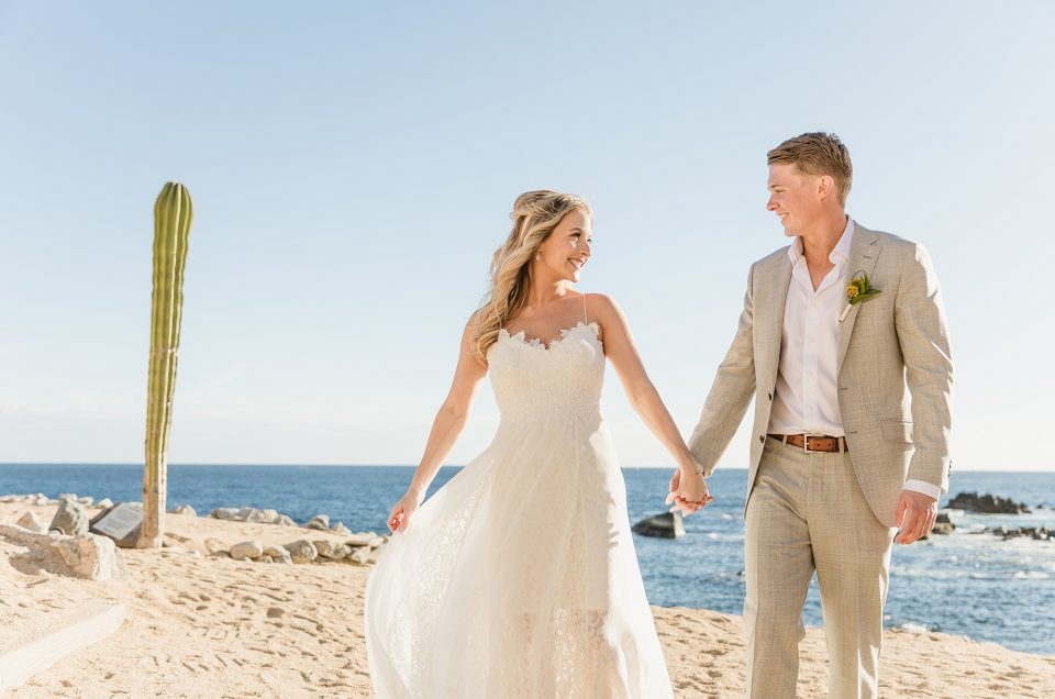 FUN BEACH WEDDING AT HACIENDA ENCANTADA, LOS CABOS, MEXICO – MAGGIE AND CHARLES
