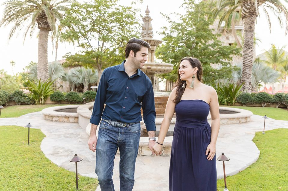 CABO SUNRISE ENGAGEMENT SESSION AT HACIENDA COCINA AND CANTINA : KIMBERLY AND DEREK